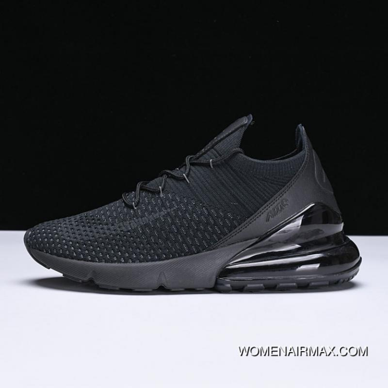 outlet store sale 5bba0 737dd Free Shipping Nike 270 Max270 270 Knit All Black AO1023-005