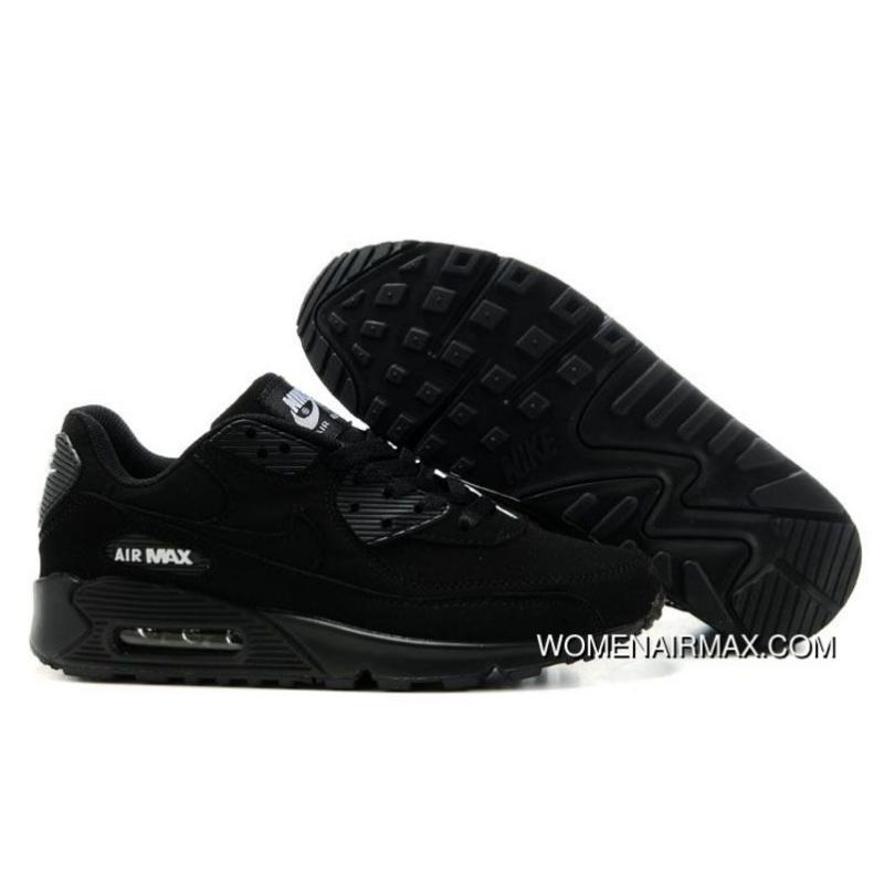 release date 5702e 42c92 USD  77.06  254.31. Mens Nike Air Max 90 Shoes All Black,womens ...
