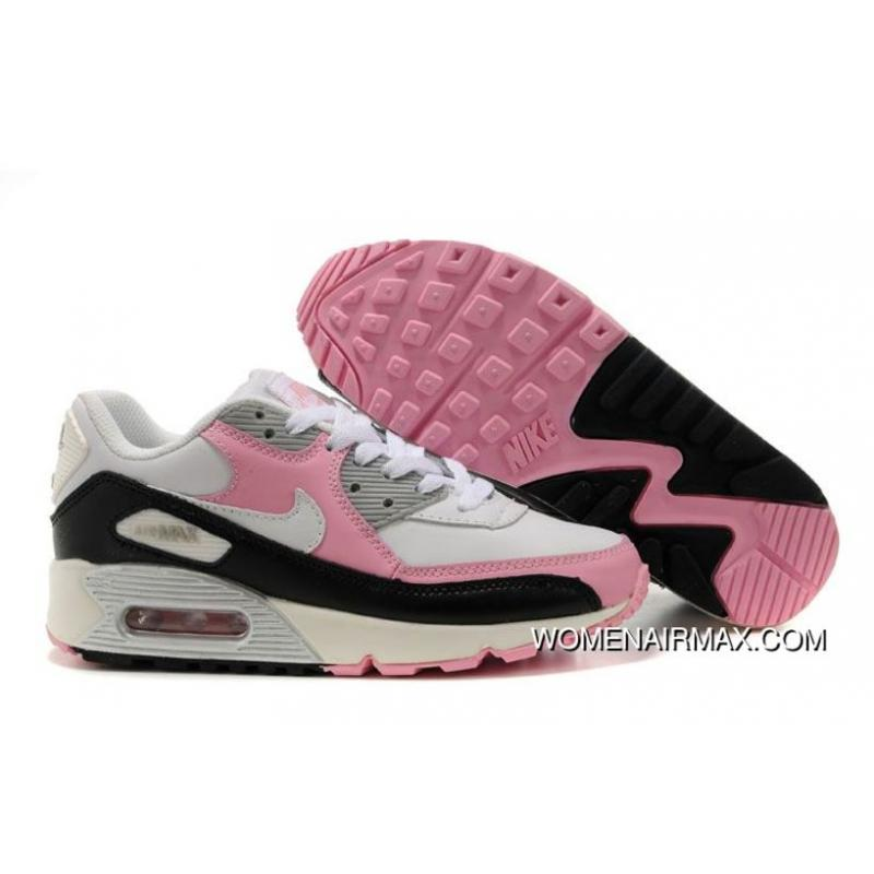 super popular e5914 944dd USD  77.43  240.02. Womens Nike Air Max 90 Shoes White Grey Back Pink ...