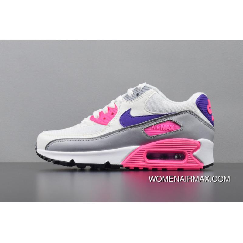 Women Nike Air Max 90 Essential Retro Zoom Running Shoes 325213 136 9 Super Deals