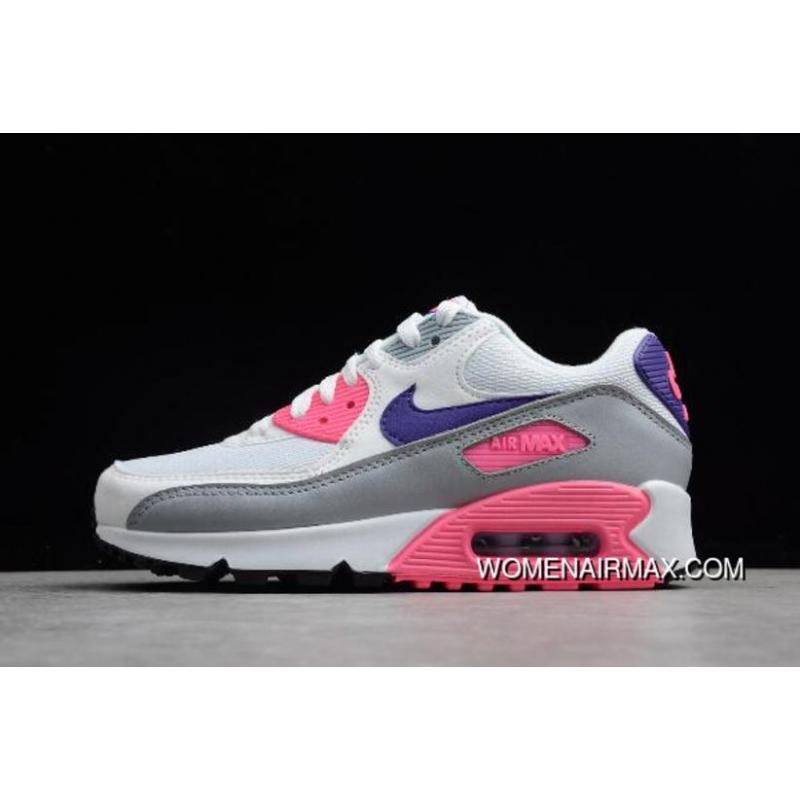 reputable site f40c7 44be9 Wmns Nike Max 90 Essential 'Laser Pink' White/Court Purple-Wolf Grey-Laser  Pink 325213-136 Free Shipping
