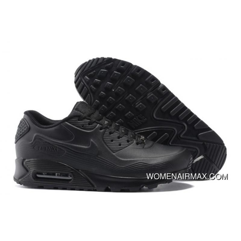 detailed look 789a6 93776 For Sale Regression Texture Nike Air Max 90 Mens Shoes All Black Free Shi