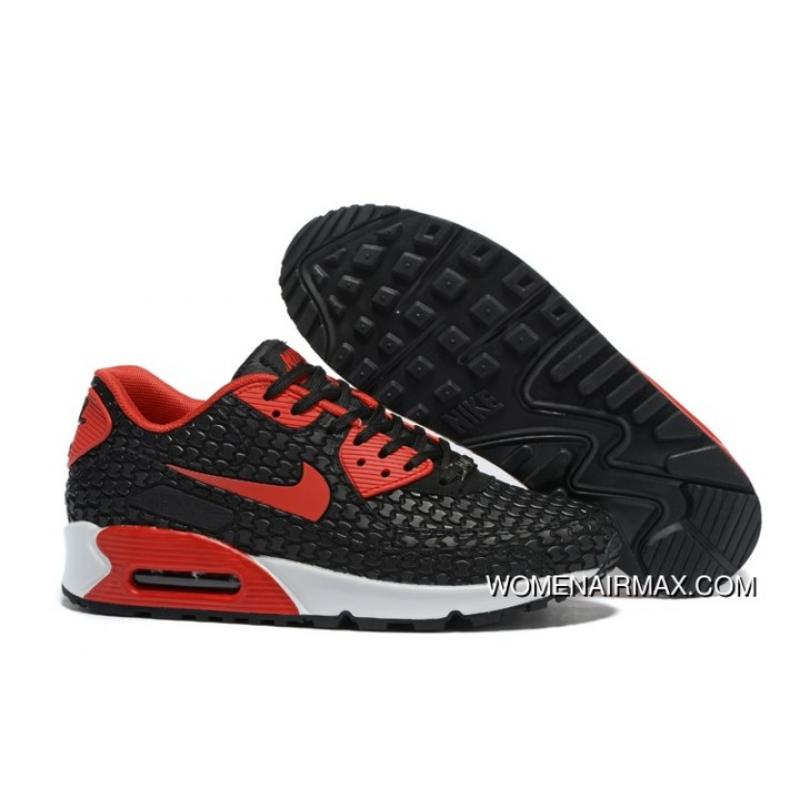 cheap for discount 649c5 b2213 Copuon Regression Texture Nike Air Max 90 Mens Shoes Black Red