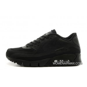Latest Regression Texture Nike Air Max 90 Womens Black Breathe Factory