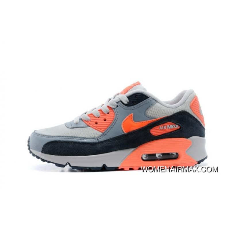 watch b2146 9c988 For Sale Regression Texture Nike Air Max 90 Womens Gray Black Orange For