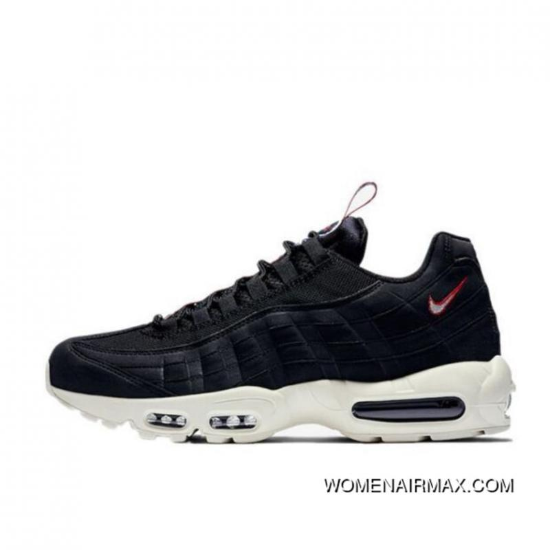 on feet images of running shoes good service Nike Air Max 95 TT Retro Zoom All-match Jogging Shoes Series Black WHite  AJ1844-002 Online