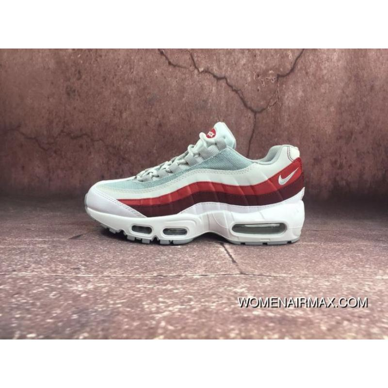 dce460885e7bc NIKE AIR MAX 95 OG Mesh Zoom Running Shoes Red Grey Color 749766-103 ...