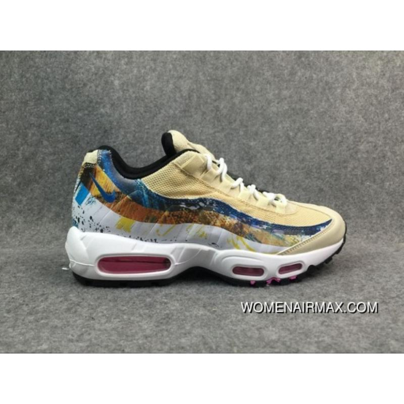 5fef2437be Women/Men Nike Air Max 95 Yellow/White New Release, Price: $76.85 ...
