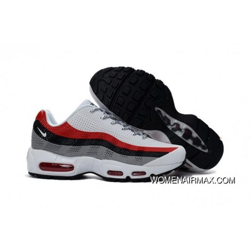 coupon code for men nike air max 95 white red black new release 9f74d faf98 de4dcd5c3