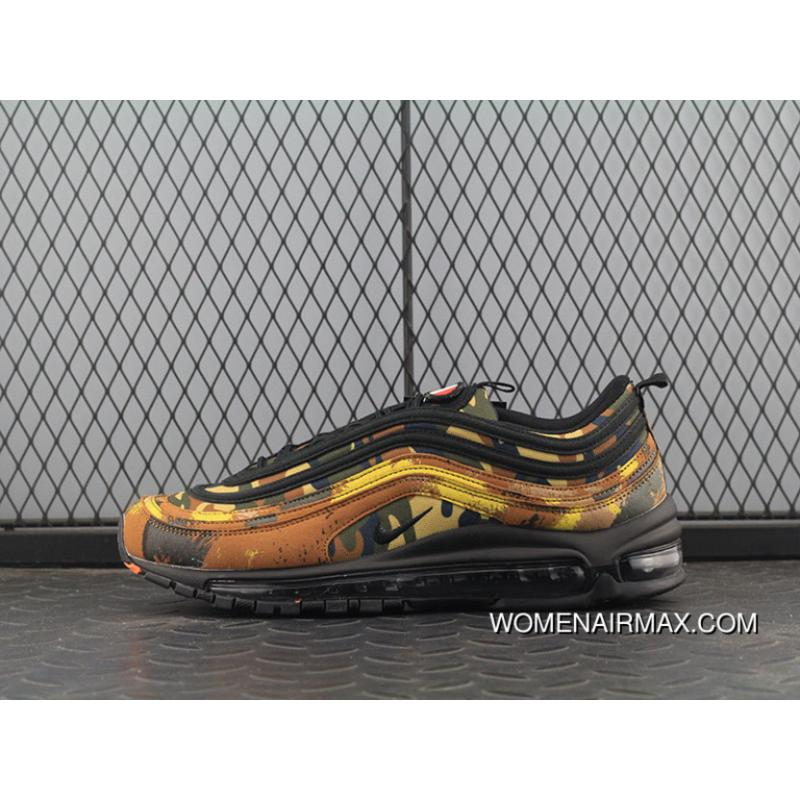 promo code c1c2f 9e8e4 Italy Limited Nike Air Max97 Japan Retro Zoom All-match Jogging Shoes  Deciduous Camo AJ2614-202 Copuon
