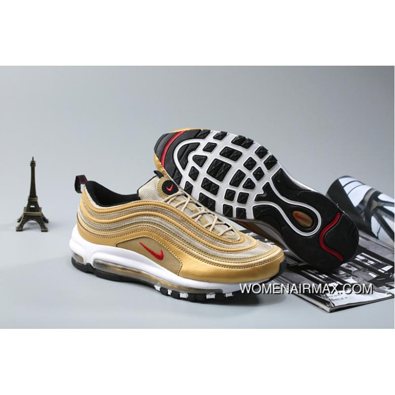 newest 80a49 12d1d Nike Air Max 97 Og Metallic Gold And Varsity Red-White-Black New Style