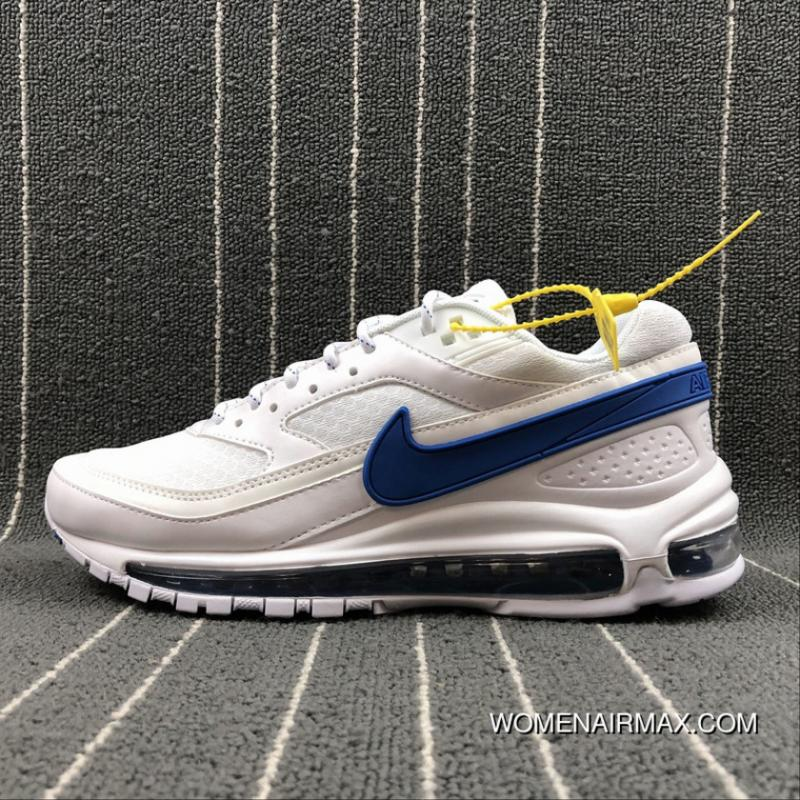 new concept 42e56 905b7 Nike Air Max 97 BW Skepta What The Full-palm Cushion Running Shoes  AO2113-100 Size Best