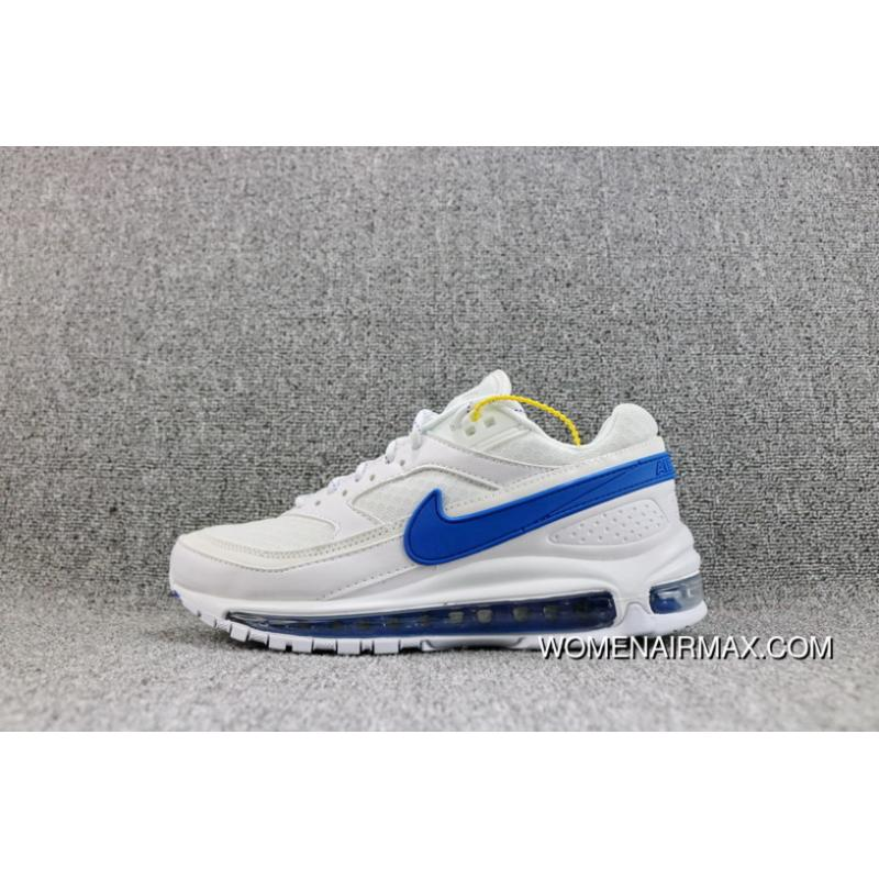 sale retailer 35b2d 09432 Skepta X Nike Air Max 97 BW Collaboration Red Blue What The Zoom Running  Shoes Men Shoes AO2113-100 Super Deals