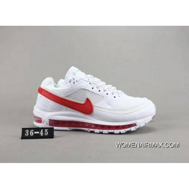 check out 1bd81 df96d 140 Nike AIR MAX 97 BW SKEPTA 97 Full-palm As Cushioning Running Shoes  Yin-Yang Shoes Leather Material Size New Year Deals
