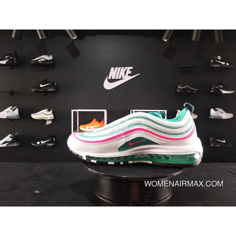 36d52adbf38cd 200 Nike Air Max 97 South Beach Along The South Coast Of White Green Pink  Zoom High Quality Version Bullet Retro Women And Men Running Shoes 921522- 101 Top ...
