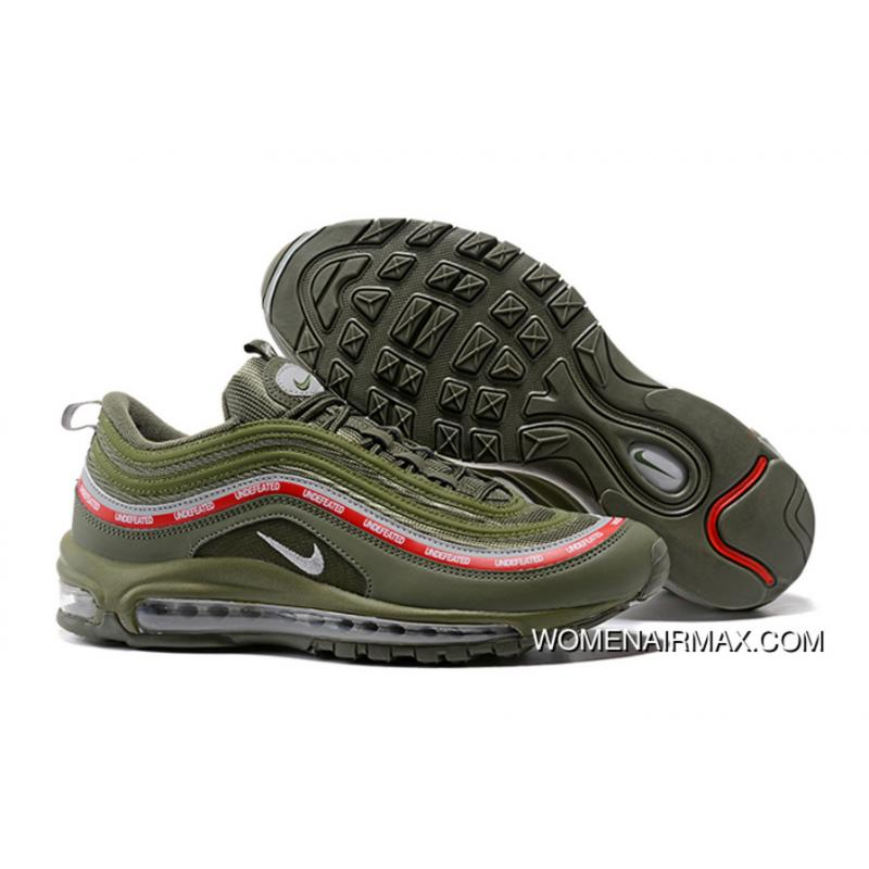 buy popular be233 4d1e0 Undefeated X Nike Air Max 97 OG Olive Green/Cool Grey-Varsity Red Free  Shipping