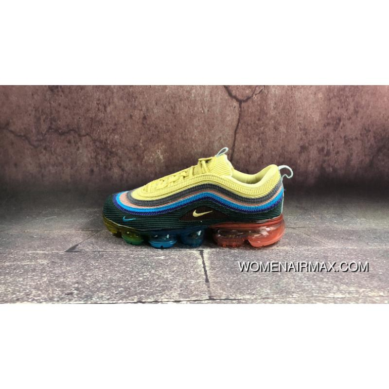 huge selection of 6c382 f10e2 The Strongest Blend Nike Sean Wotherspoon X Air VaporMax 97 Vf Sw Hybrid  Retro Zoom Jogging Shoes Corduroy Rainbow AJ7291-400 Copuon