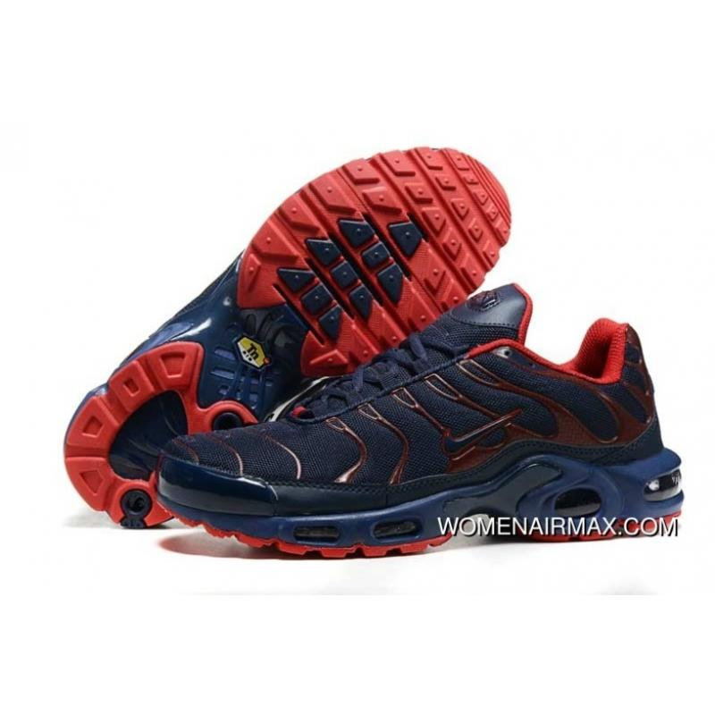 pas cher pour réduction 38565 a8a86 2016 Nike Air Max Tn Mens Shoes Navy/Red New Style