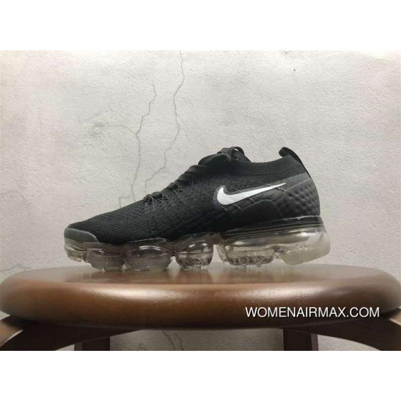 online store bde8d 9a2a2 2.0 Zoom Air Nike Air Vapormax 2.0 Flyknit Black White Bottom 852-780001  Free Shipping