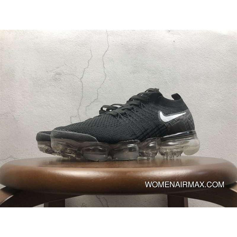 online store 7797c 26803 2.0 Zoom Air Nike Air Vapormax 2.0 Flyknit Black White Bottom 852-780001  Free Shipping