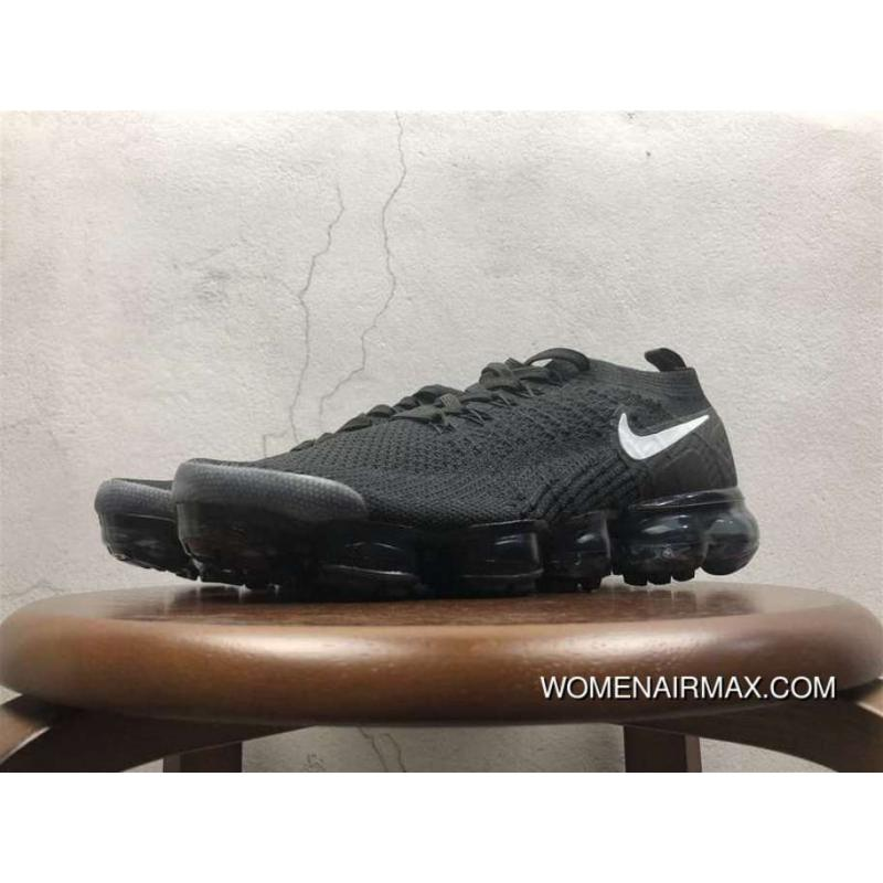 free shipping f4df0 46c76 2.0 Zoom Air Nike Air Vapormax 2.0 Flyknit All Black 852-780004 New Year  Deals