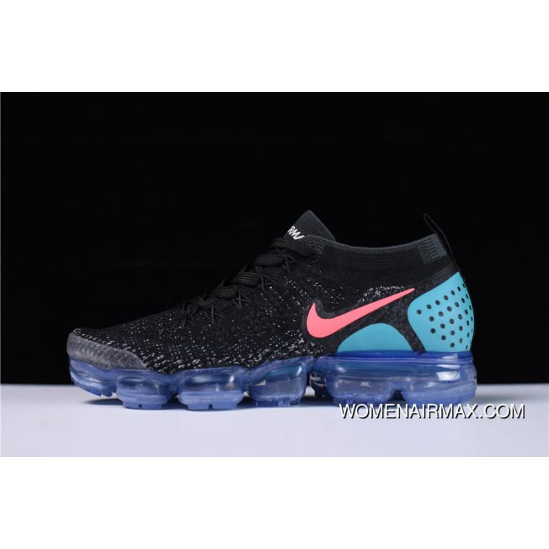 13c77c49dcd9 Nike Air Vapormax 2.0 Flyknit Black Hot Punch-White-Dusty Cactus New ...