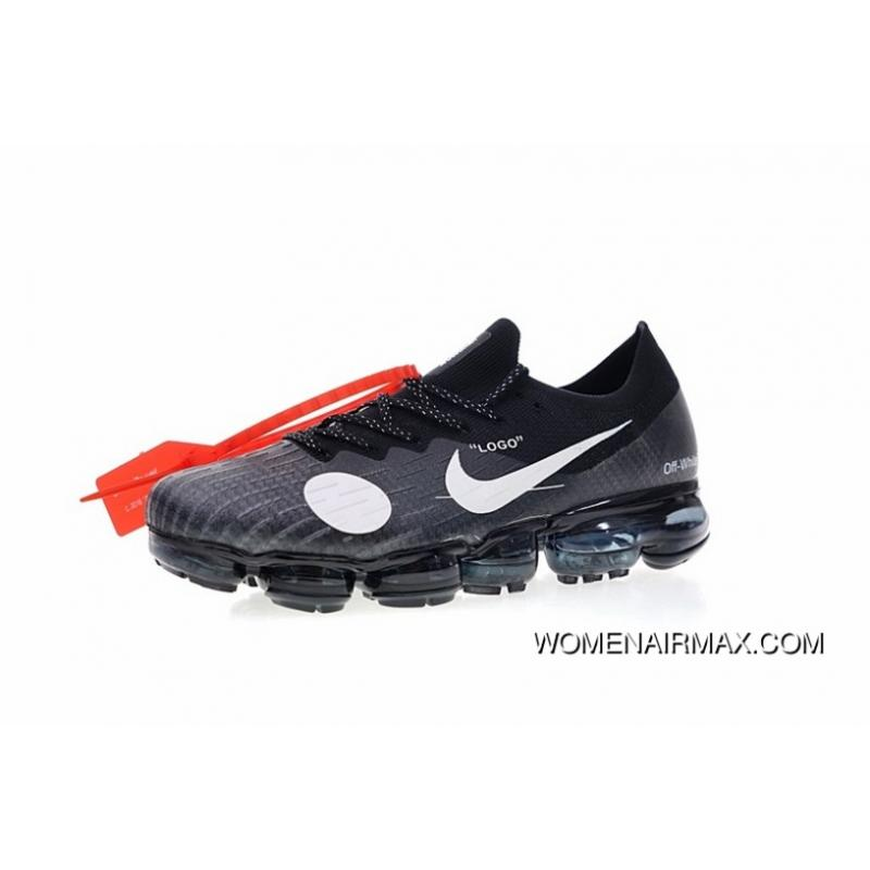 lowest price 79fbb 27631 2018 New Color Virgil Abloh Designer Independent Brand Nike Air VaporMax  Steam Off White X Zoom Air Jogging Shoes Soccer Black White 849558-010  Latest