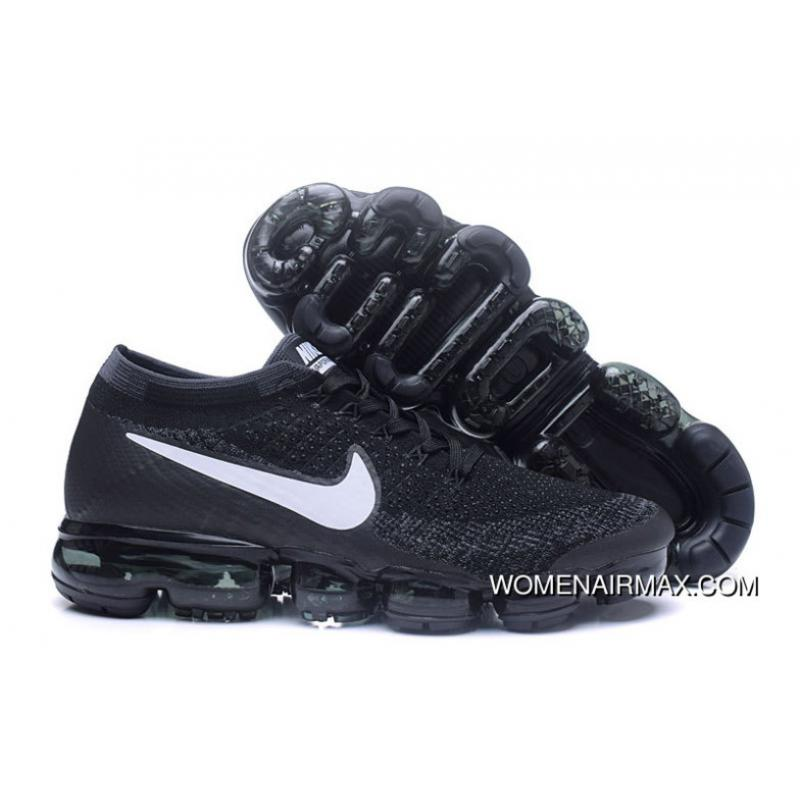 94085db3a3157 USD  89.53  286.48. Nike Air 2018 VaporMax Flyknit Steam Zoom Air Jogging  Shoes High Quality Black White Hooks 849558 ...