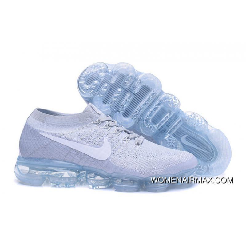 5948122b33d8 Nike Air 2018 VaporMax Flyknit Steam Zoom Air Jogging Shoes High Quality  Grey White 849558-004 Top Deals