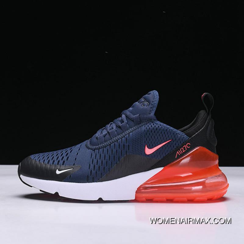 check out ddd08 1dcb4 Nike Air Max 270 Series Heel Half-palm Cushion Jogging Shoes AH8050-401  Blue Red 9 New Style