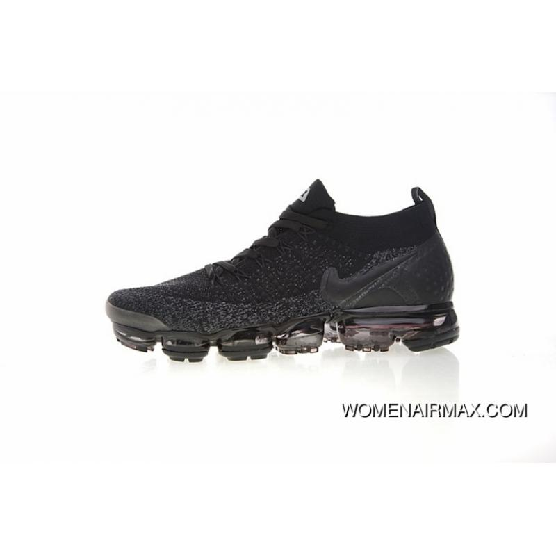 official photos fdd5d f2da9 Men Shoes Nike Air VaporMax Flyknit 2.0 W 2.0 Zoom Air All-match Jogging  Shoes2.0 Black Grey Oreo 942842-012 Outlet