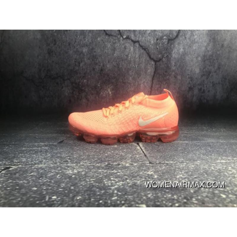 the latest 60bd6 ab894 2018 2.0 Zoom Air Nike Air VaporMax Flyknit Flashing Red Cloud Sail White  Coral Grey 942843-800 Latest