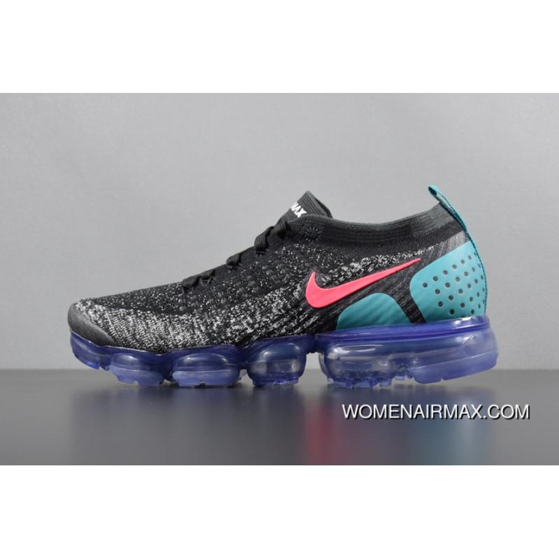 5a64a303 2018 2.0 Zoom Air Nike Air VaporMax Flyknit Black White Red Cactus Grey  Punch 942842-003 For Sale
