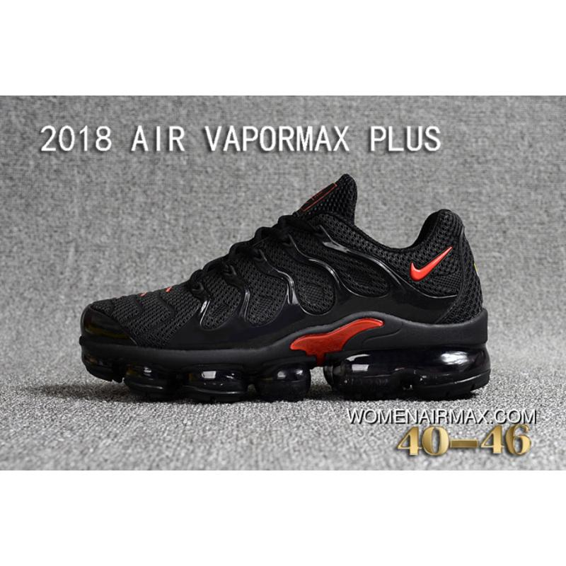 afbaa06eace2d 2018 NIKE AIR VAPORMAX PLUS PLASTIC Nanotechnology New Technology  Environmental Protection Tasteless Full Zoom Running Shoes Women Shoes And  Men Shoes Black ...