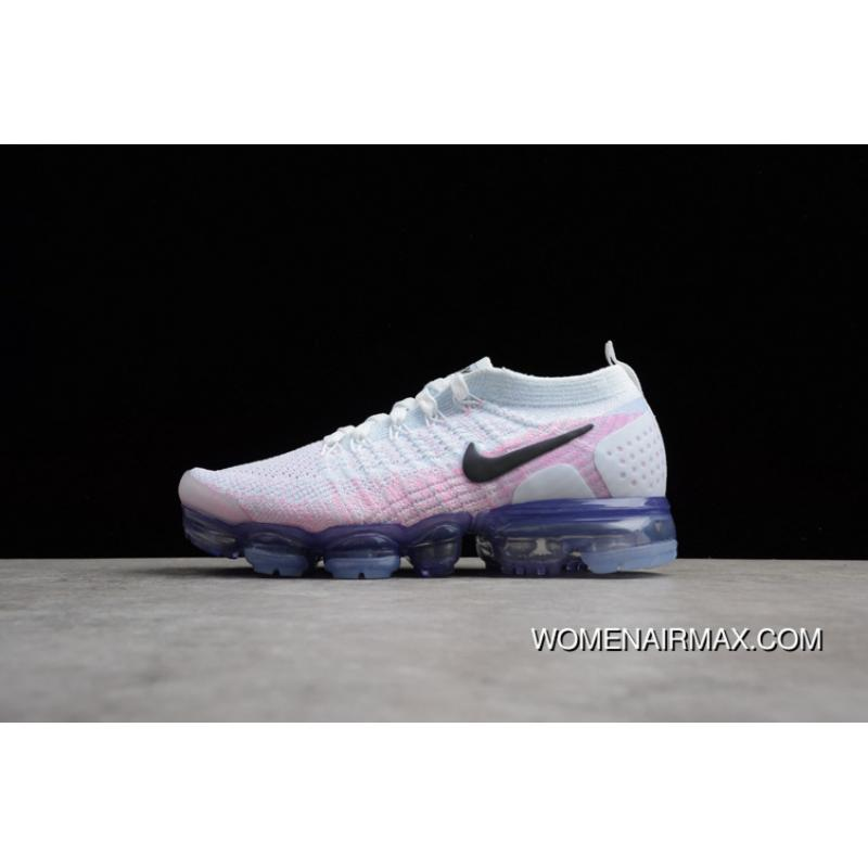 pretty nice 923dc 3dbc6 2018 Nike Zoom Air 2.0 Air VaporMax Flyknit White Pink New Year Deals