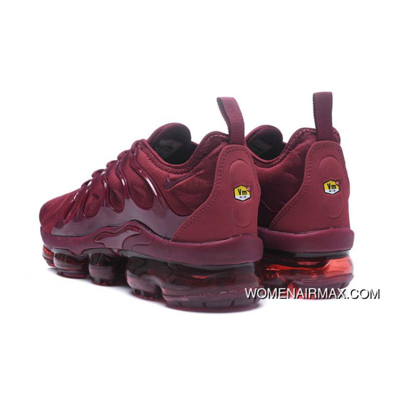 new products aee78 4423f 2018 Nike Lab Air Vapor Max X Nike Air Vapormax Plus Burgundy University  Red Free Shipping