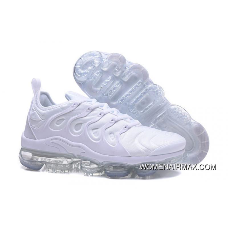 quality design 4751a d543c 2018 Nike Air Vapormax Plus Triple White New Style
