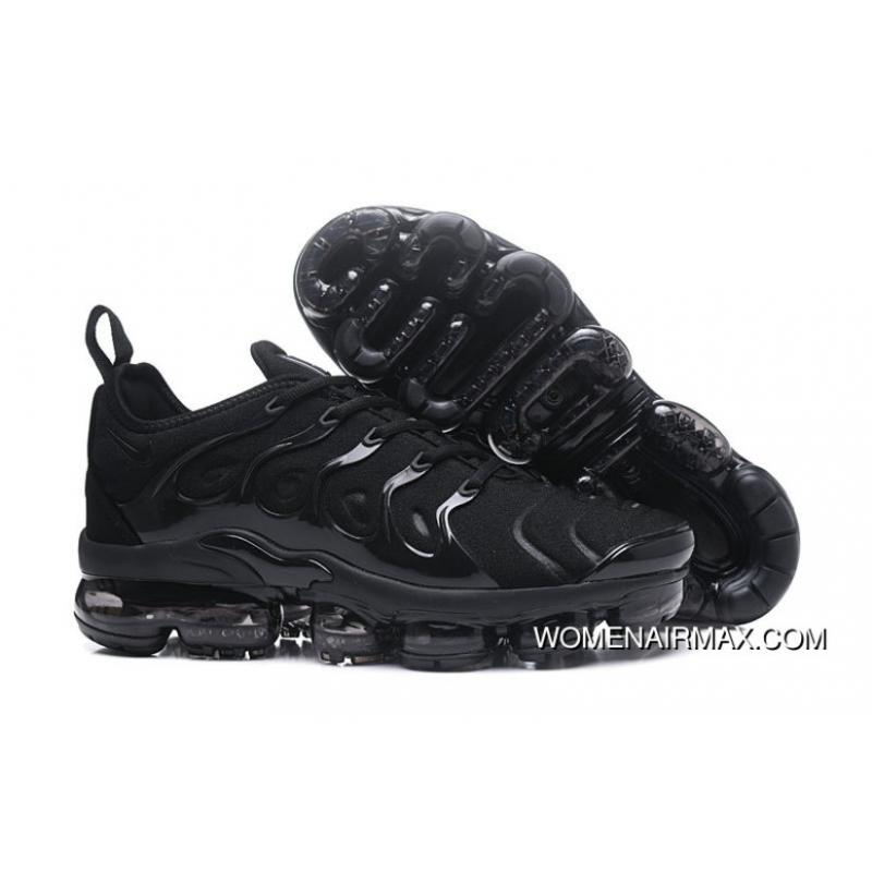 fbd47da873 2018 Nike Vapormax Plus Triple Black Outlet, Price: $99.84 - Women ...