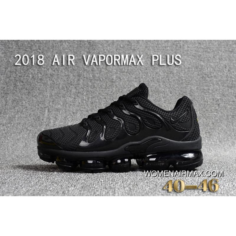 brand new ad4c2 a4f00 Nike 2018 PLASTIC AIR VAPORMAX PLUS TN PLASTIC VAPORMAX PLASTIC Men Shoes  All Black Latest
