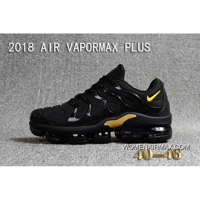 sneakers for cheap ee930 c48c9 Nike 2018 PLASTIC AIR VAPORMAX PLUS TN PLASTIC VAPORMAX PLASTIC Men Shoes  Black Gold For Sale