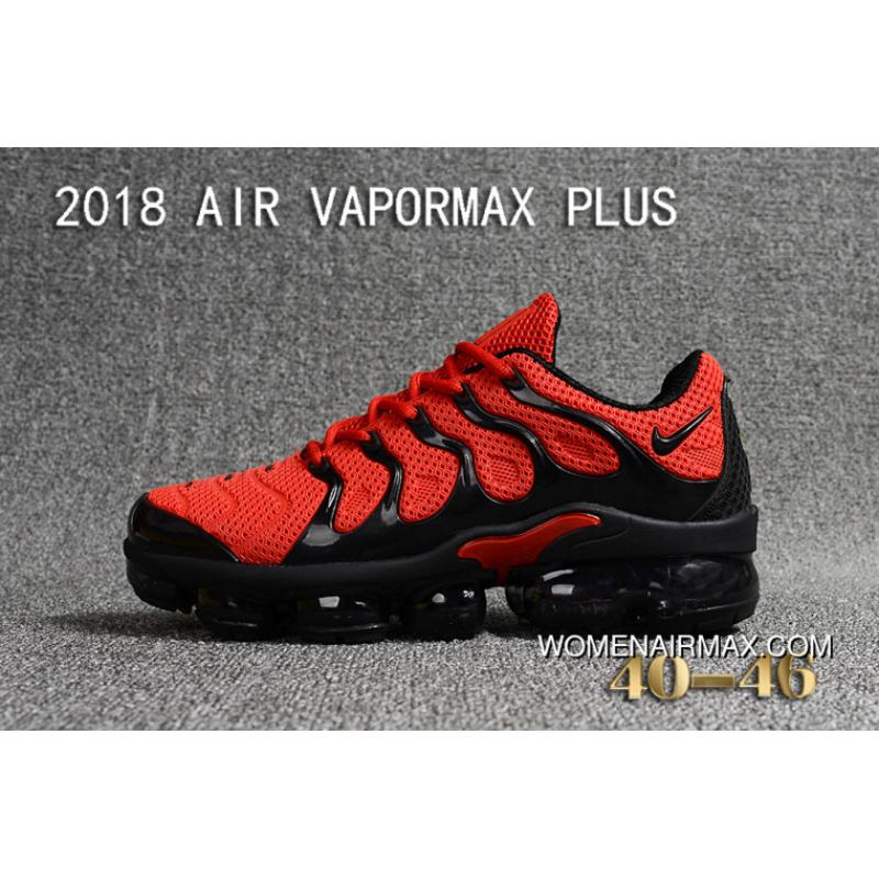 online store 92a95 2b2f0 Nike 2018 PLASTIC AIR VAPORMAX PLUS TN PLASTIC VAPORMAX PLASTIC Men Shoes  Red Black New Year Deals