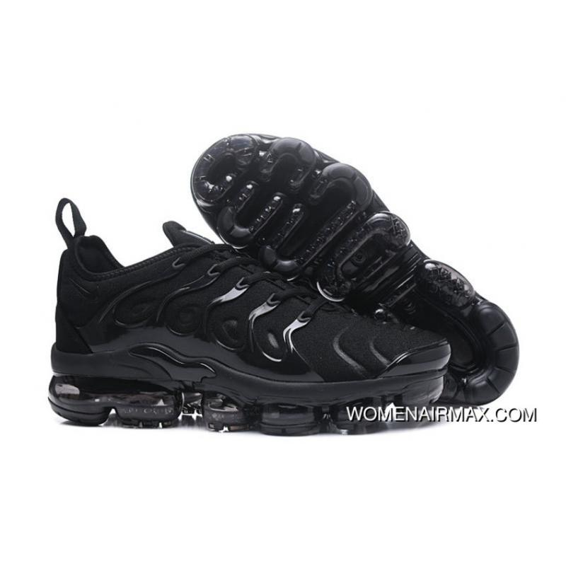 All Black Nike Air Vapormax Plus Triple Black Hybrid Trainers Top ... 36b12f6be
