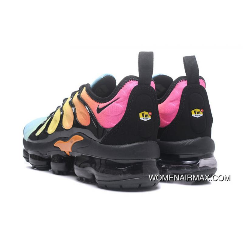 sports shoes bdee9 5d0ac Mens Nike Air Vapormax Plus Tropical Sunset Black/Bleached Aqua New Style