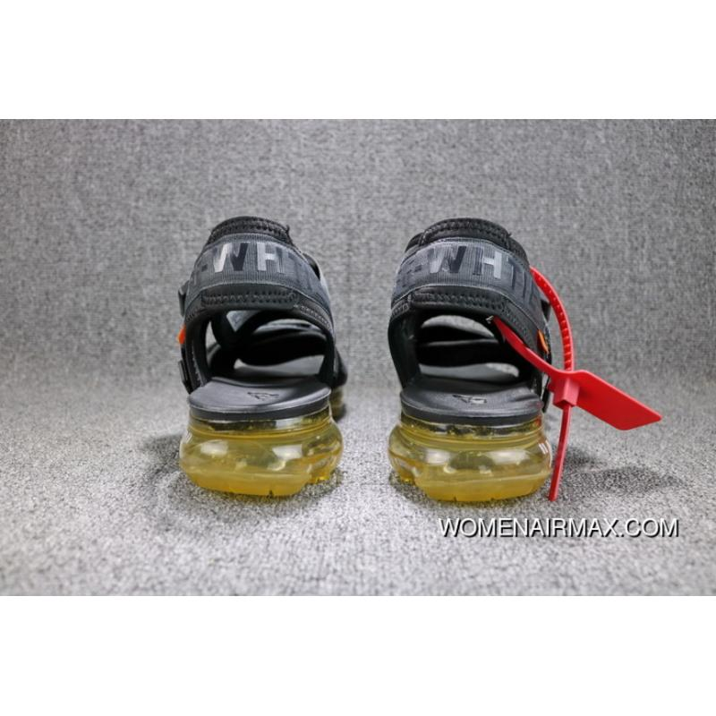 9a8e6f7b035 ... OFF-WHITE X Nike Air VaporMax Zoom Sandals Women Men Shoes 850588-002  Outlet