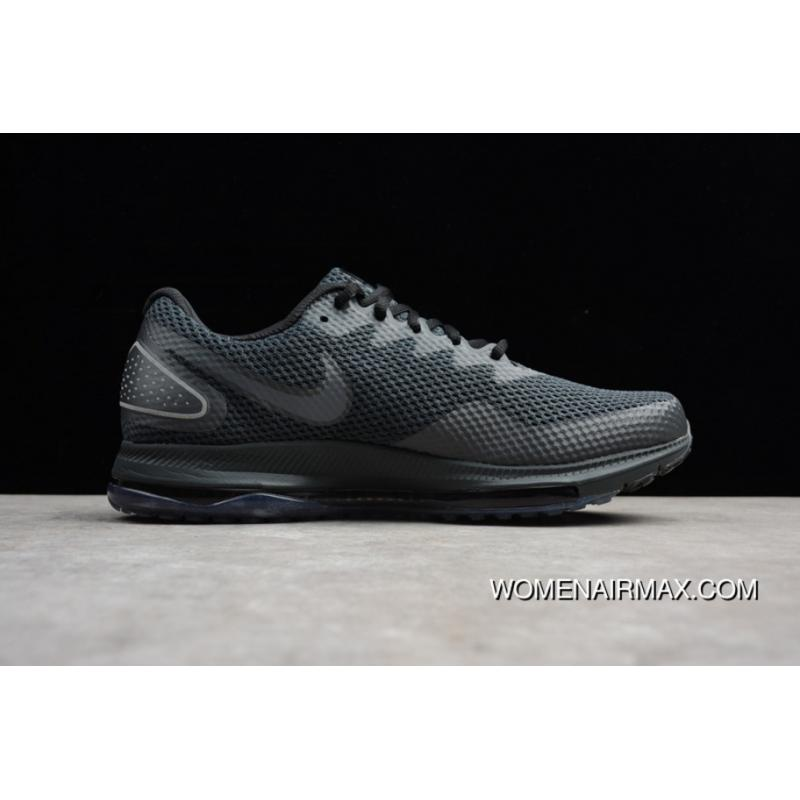 3f7c073a569b ... Nike ZOOM Shoes 2.0 AJ0035-004 ALL Black ZOOM ALL OUT LOW 2 Men Running  ...