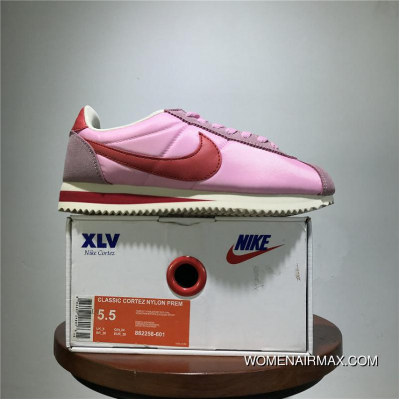 The Latest Perfect Here Model Improved Version Nike Classic Cortez Classic  Retro Cortez All-match Jogging Shoes Oxford Shallow Pink White Size 882258- 601 ... 8422aa34be