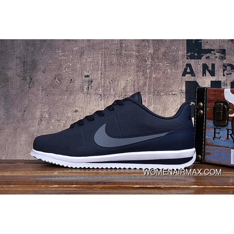 best sneakers bc1d9 7c9e4 Deep Blue Grey New Carbon Cortez 3 Nike Cortez 3 Full Carving HEAT SEAL  Cortez Retro Three Layers Combine Classic Cortez Leather Online