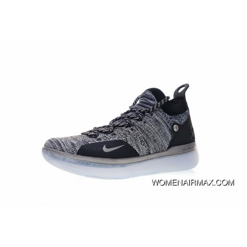 outlet store 242dc 714fa Spring Superman Shoes NBA Ball Kevin Durants Signature Style Nike Zoom KD11  EP Generation FLYKNIT Mid Top Also Shoes Ice Blue Oreo AO2605-004 New Year  Deals