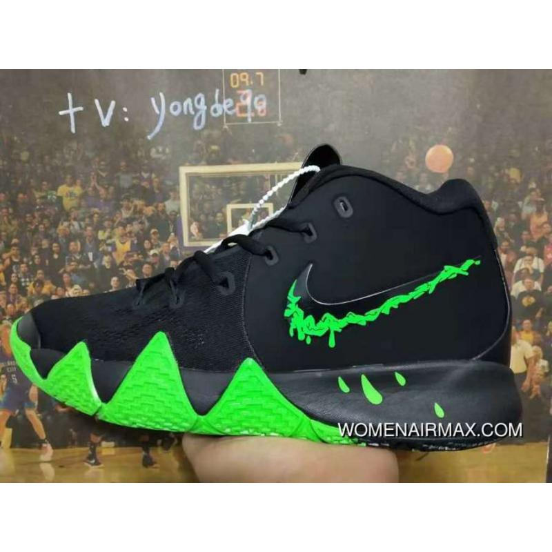 new style 23e1d f44c6 USD 88.32 247.30. Nike Kyrie 4 Halloween Spooky Black Green For Sale ...