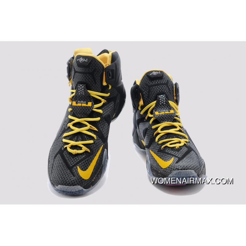 90e1bf6ba25b ... Black Yellow Nike LeBron 12 Top Deals